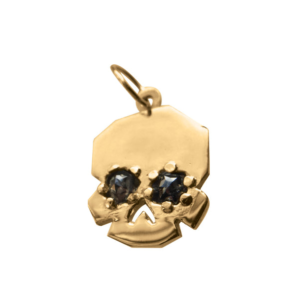 FACETTE GRAY DIAMONDS SKULL CHARM