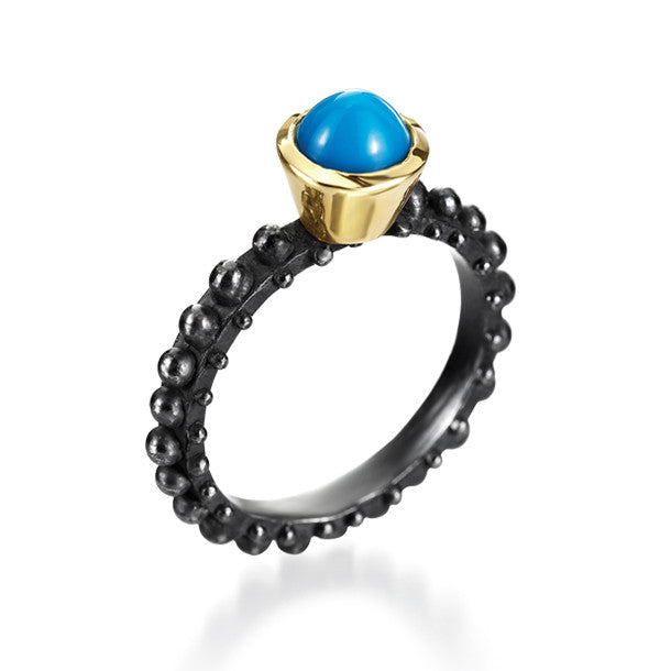 BOHEME SOLITAIRE TURQUOISE RING