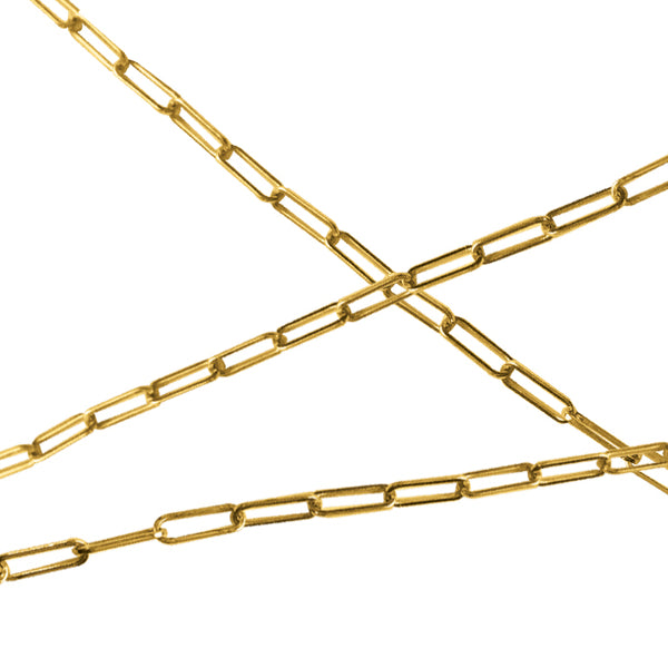 BOHEME BEBE GOLD RECTANGLE LINK CHAIN rts