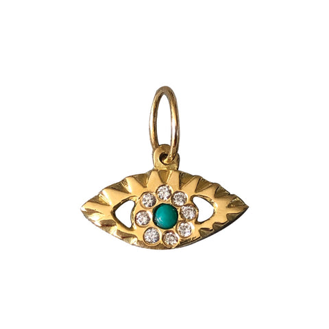 BOHEME TURQUOISE DIAMOND THIRD EYE CHARM