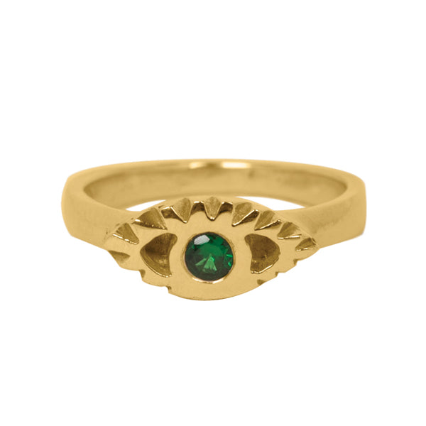 BOHEME TSAVORITE THIRD EYE RING