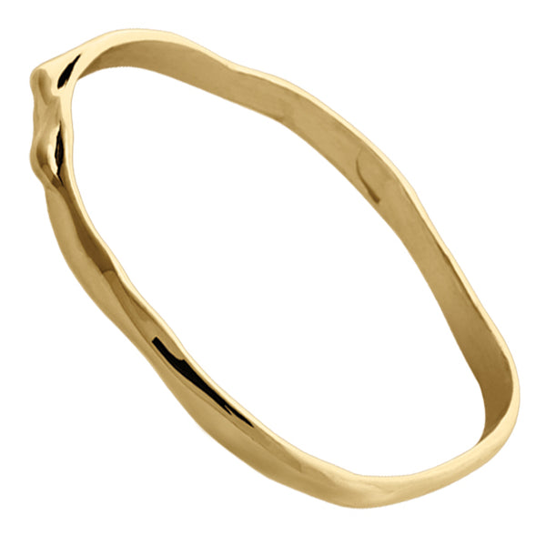BOHEME TWIG SOLID GOLD BANGLE