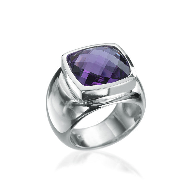 Classics Dome Amethyst Bague - Final sale