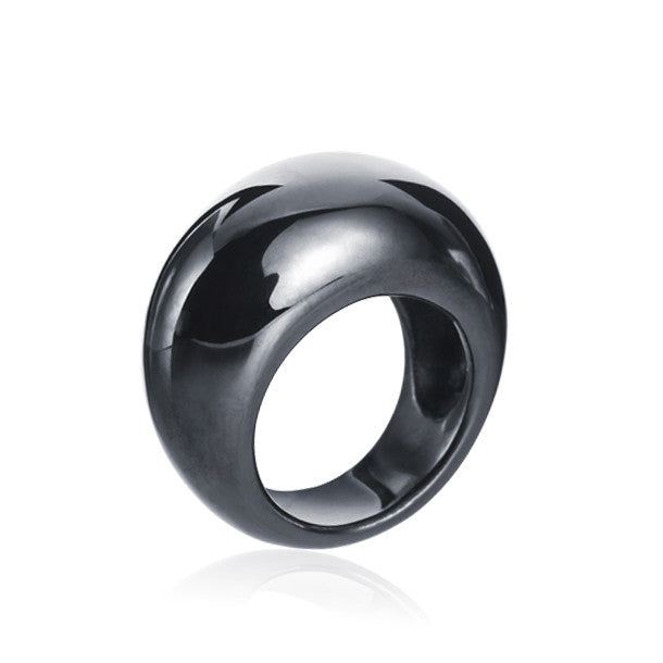 Classics Dome Black Rhodium Bague - Final sale
