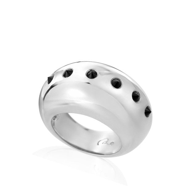 Classics Spiky Dome Silver Bague - Final sale