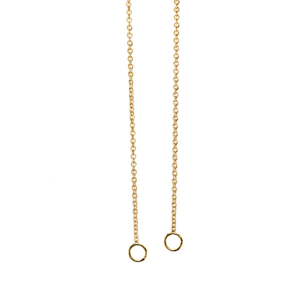 GOLD CABLE LINK CHARM OPEN CHAIN