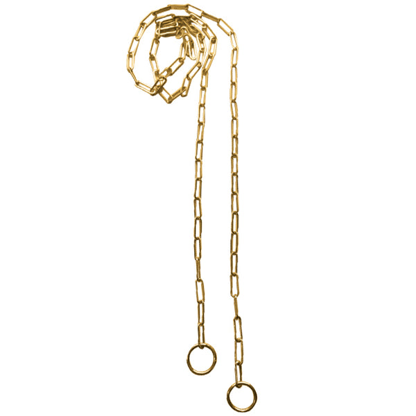 BOHEME GOLD RECTANGLE LINK OPEN CHAIN