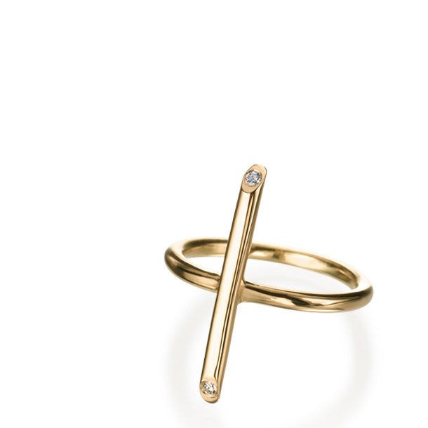 BATON LONG DIAMOND RING