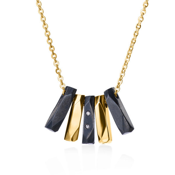 FACETTE MULTITIGE DIAMOND OXI NECKLACE