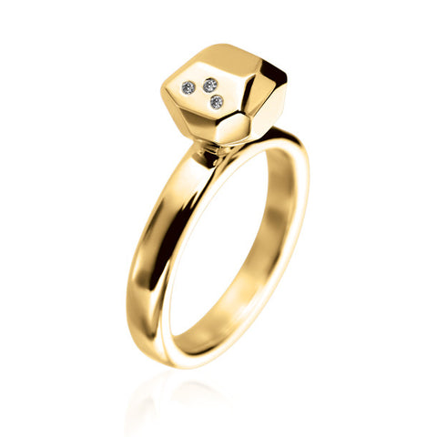 FACETTE SOLITAIRE DIAMOND RING