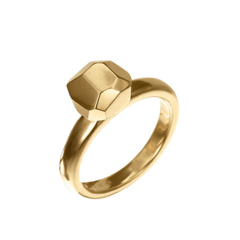 FACETTE SOLITAIRE RING 18KY rts