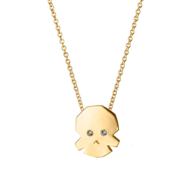 FACETTE MINI SKULL NECKLACE