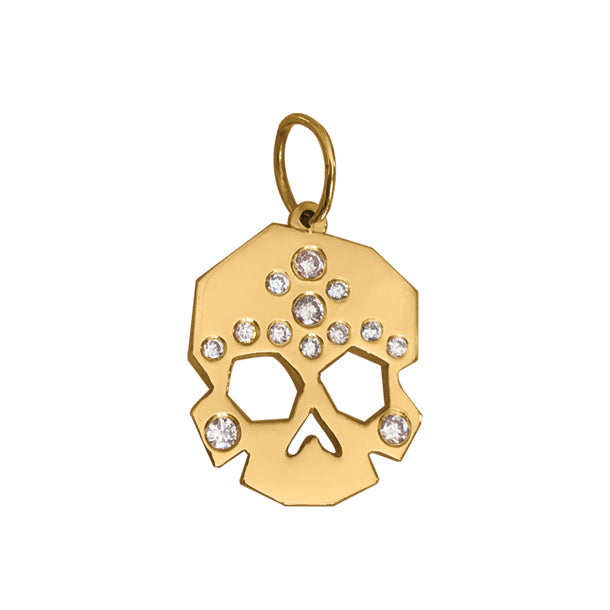 FACETTE DIAMOND SKULL CHARM