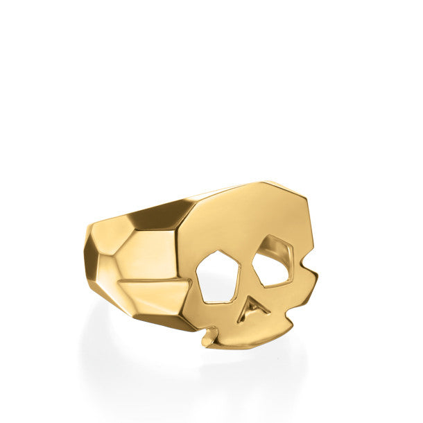 FACETTE SMALL SKULL RING