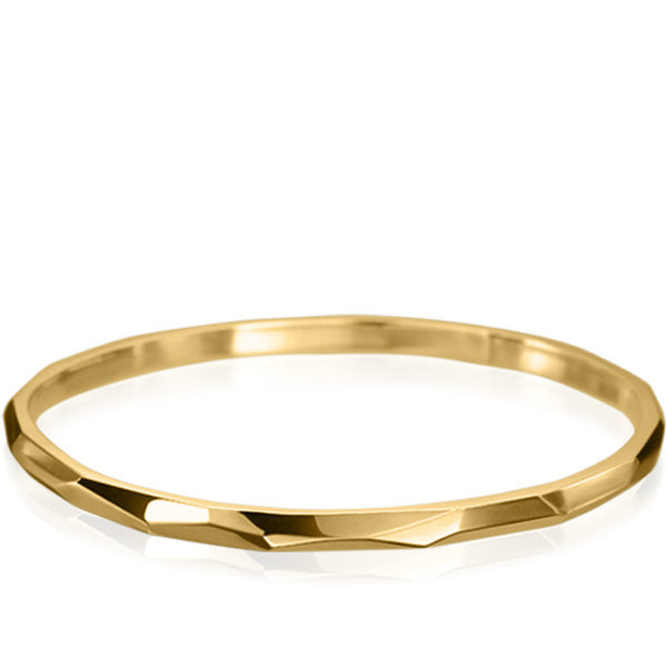 FACETTE SOLID THIN BANGLE