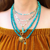 BOHEME TURQUOISE NUGGET OPEN CHAIN