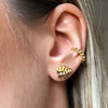 BOHEME DIAMOND MONSTERA LEAF STUD rts