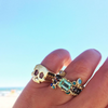 BOHEME CROWN TROIS RING BLEUE rts
