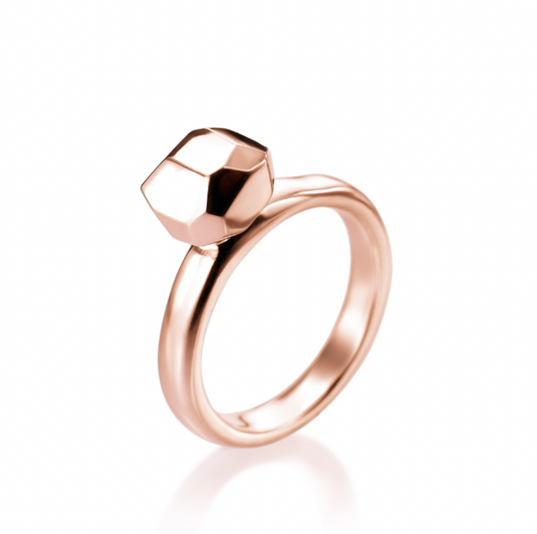 FACETTE SOLITAIRE RING 14KR rts
