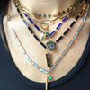 BOHEME LA BELLE ONYX INLAY GOLD CHAIN rts