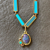 BOHEME LA BELLE TURQUOISE INLAY GOLD CHAIN