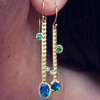 BOHEME LONG DANGLE SINGLE EARRING