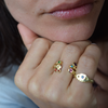 BOHEME CROWN RAINBOW RINGS