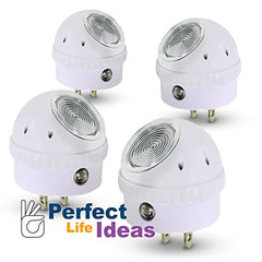 LED Night Light Lamp 4 Pcs Set, 360 Degree Rotating Head with Sensor