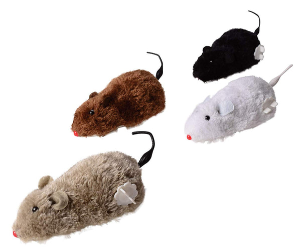 Wind Up Fake Toy Mouse - 4 Pcs Rat Racing Set -  Prank Mouse Play Toys