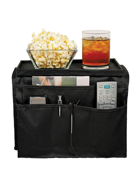 TV Remote Control Holder & Armrest Organizer-Pocket Caddy as Holders