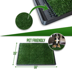 Pet Dog Potty Pee Pad Bathroom Turf Grass Relief System -Easy to Clean