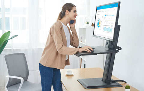 North Bayou ST15 Single Monitor Integrated Sit Stand Workstation