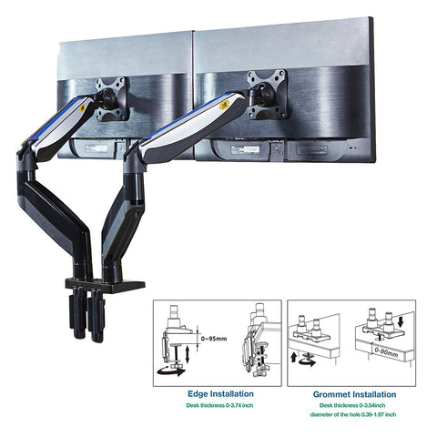 North Bayou F185A Dual Monitor Desk Mount Stand for 22 to 27 Screen