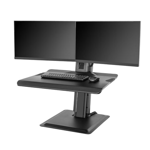 North Bayou ST15-2A Dual Monitor Sit-Stand Work Station