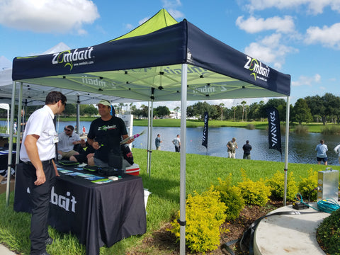 "Zombait Demo Tent at ICAST 2017 ""On The Water"""