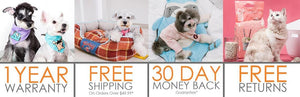 1 Year Warranty and Free Shipping on Pet Supplies