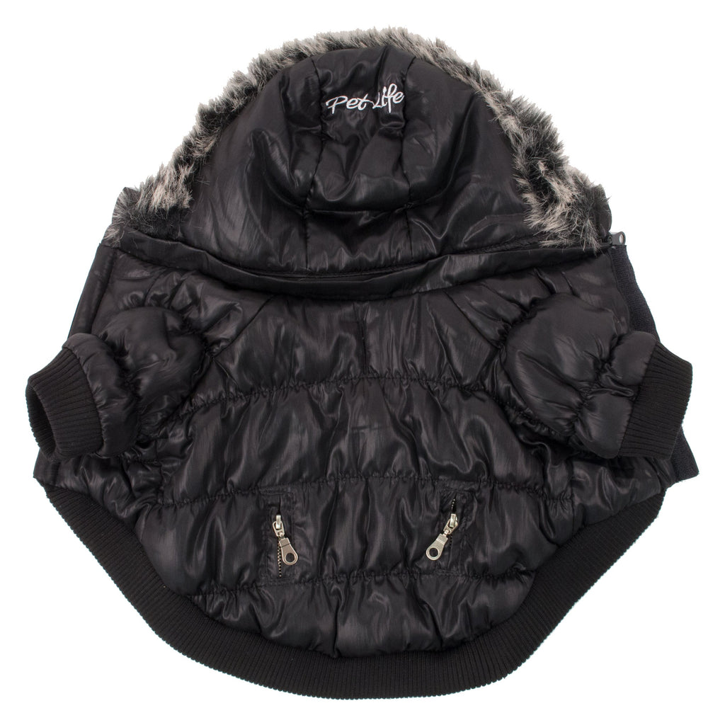 Metallic Fashion Pet Parka Coat - Black (1BK)
