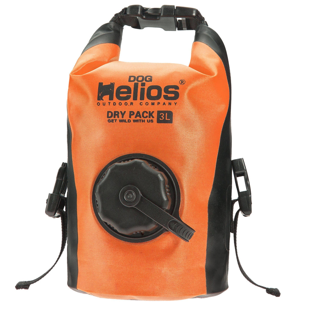 Dog Helios 'Grazer' Waterproof Outdoor Travel Dry Food Dispenser Bag Orange