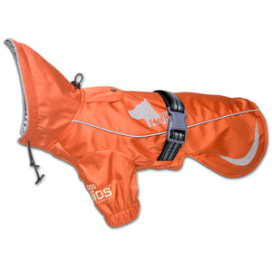 Dog Helios 'Ice-Breaker' Extendable Hooded Dog Coat w/ Heat Reflective Tech X-Small Orange