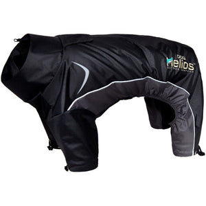 Dog Helios ® Blizzard Full-Bodied Adjustable and 3M Reflective Dog Jacket X-Small Black