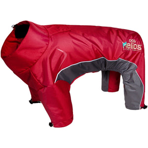 Dog Helios ® Blizzard Full-Bodied Adjustable and 3M Reflective Dog Jacket X-Small Cola Red