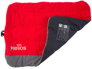 Dog Helios ® 'Combat-Terrain' Cordura-Nyco Reversible Nylon and Fleece Travel Camping Dog Bed Medium Red, Grey