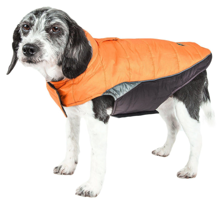 Dog Helios ® Hurricane-Waded Plush 3M Reflective Insulated Winter Dog Coat