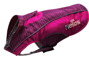 Dog Helios ® 'Reflecta-Bolt' Tri-Velcro Waterproof Performance Dog Coat X-Small Hot Pink / Purple