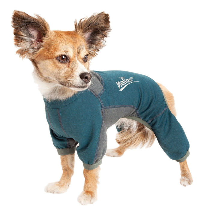 Dog Helios ® 'Rufflex' Mediumweight 4-Way-Stretch Fitness Yoga Dog Tracksuit Jacket