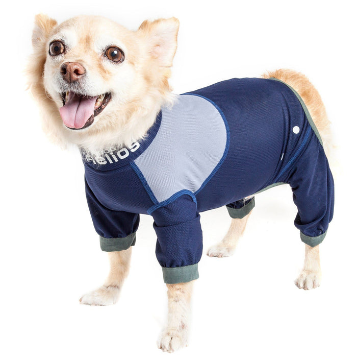 Dog Helios ® 'Tail Runner' Lightweight 4-Way-Stretch Breathable Yoga Dog Tracksuit