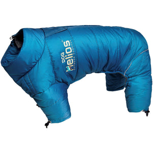Dog Helios ® Thunder-crackle Adjustable and Reflective Full-Body Waded Winter Dog Jacket X-Small Blue Wave