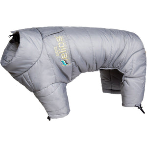Dog Helios ® Thunder-crackle Adjustable and Reflective Full-Body Waded Winter Dog Jacket X-Small Grey