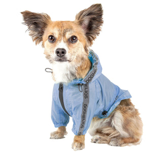 Dog Helios ® 'Torrential Shield' Adjustable and Waterproof Dog Raincoat Poncho