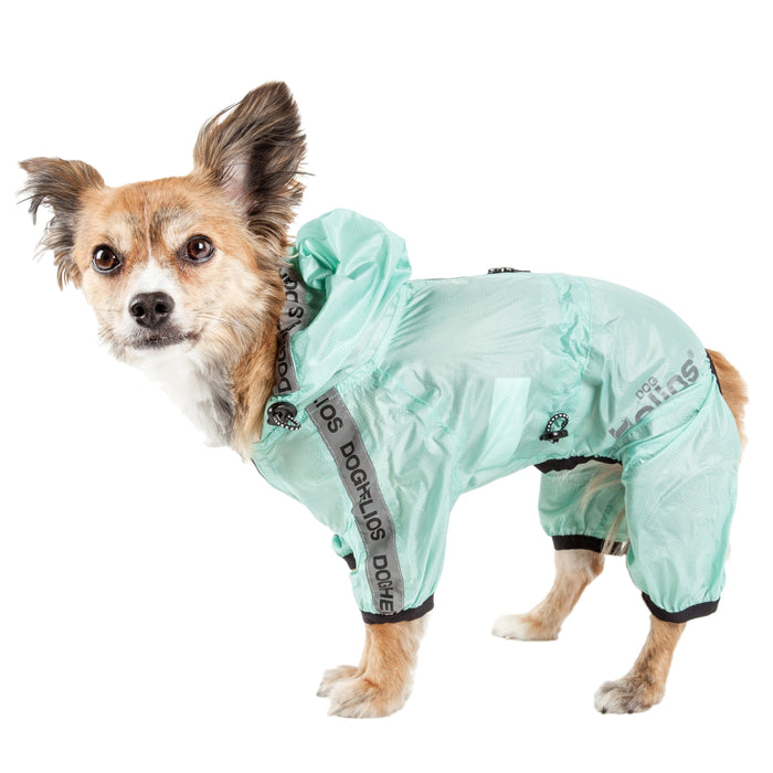 Dog Helios ® 'Torrential Shield' Waterproof Multi-Adjustable Full Bodied Pet Dog Windbreaker Raincoat